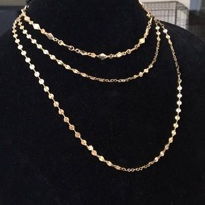 Layered three tiered BaubleBar Necklace